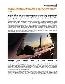 AUTOMOTIVE GLASS MARKET INDUSTRY GROWTH ANALYSIS AND LEADING PLAYERS