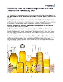 Edible Oils and Fats Market Competitive Landscape Analysis 2019