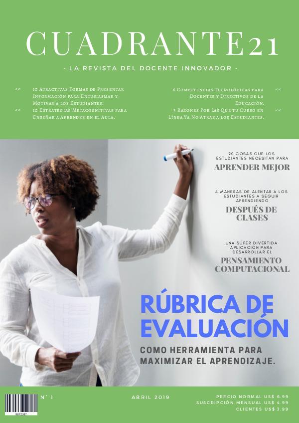 Mi primera publicacion Cuadrante21-Abril2019-Número1-Educar21