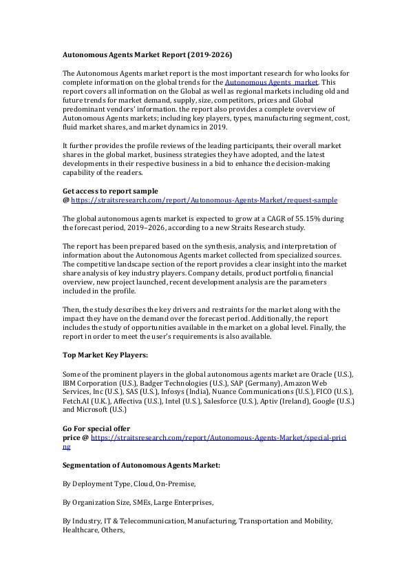 Market Research Autonomous Agents Market