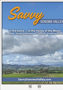 Savvy Sonoma Valley Sample Issue