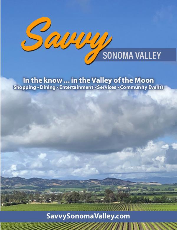 Savvy Sonoma Valley Sept 20 - Oct 13 Edition