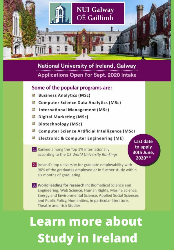 Study at National University of Ireland, Galway National University of Ireland, Galway