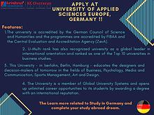 Apply Now at University of Applied Sciences Europe Germany