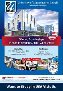 Study in USA at University of Massachusetts Lowell