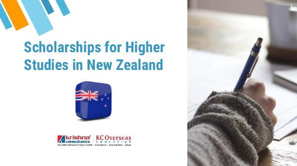 Scholarships for Higher Studies in New Zealand Scholarships for Higher Studies in New Zealand