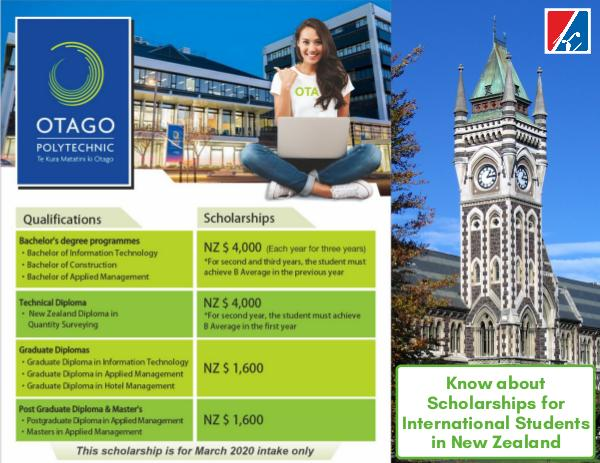 Opportunity of Scholarships in New Zealand Opportunity of Scholarships in New Zealand