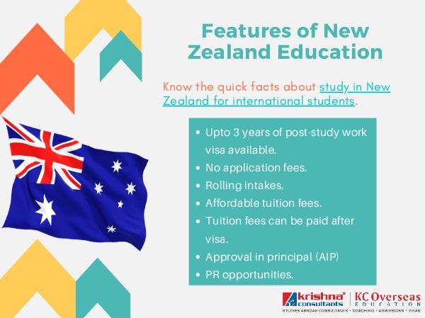 Key facts Related to Higher Education in New Zealand Features of New Zealand Education