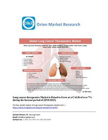Lung cancer therapeutics, Forecast, Market Analysis, Global Industry