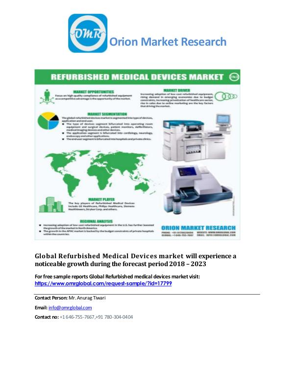 Global power bank market, Forecast, Market Analysis, Global Industry Refurbished medical devices market
