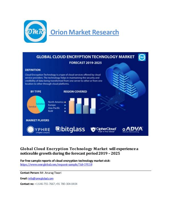 Global Cloud Encryption Technology Market, Forecast-2025 cloud encryption