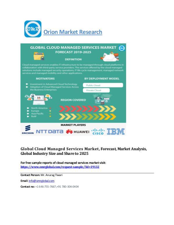 Global Cloud Encryption Technology Market, Forecast-2025 Cloud managed services Mkt
