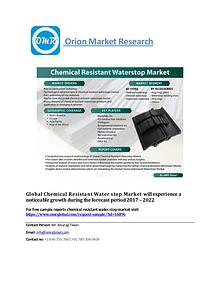 Global Chemical Resistant Water stop Market, Forecast to 2022