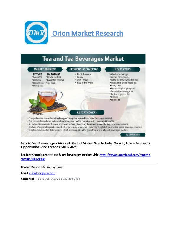 Tea & Tea Beverages Market: Global Market Size, Forecast to 2025 tea-and-tea-market