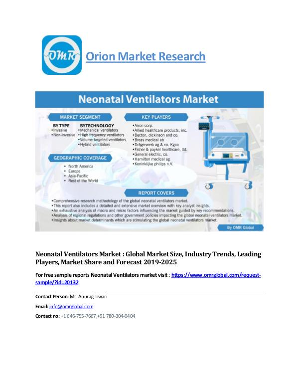 Neonatal Ventilators Market : Global Market Size, Industry Trends, Le Neonatal-Ventilators-Market