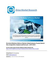 Precision Medicine Software Market: Global Market Size and Forecast 2