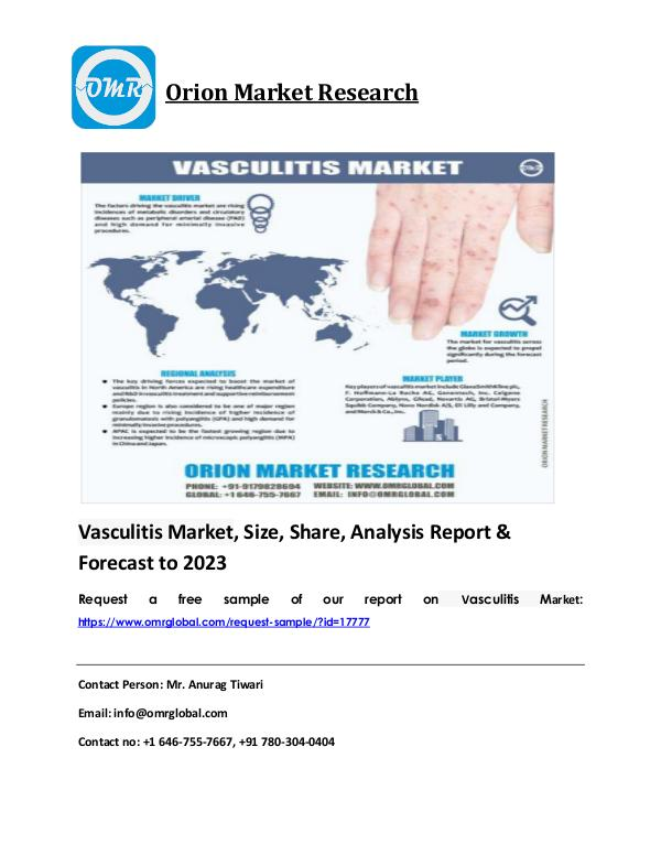Vasculitis Market: Industry Size, Growth, Trends & Forecast 2018-2023 Vasculitis Market PDF