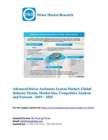 Advanced Driver Assistance System Market: Global Industry Growth 2025