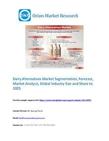 Dairy Alternatives Market Segmentation, Forecast, Market Analysis,