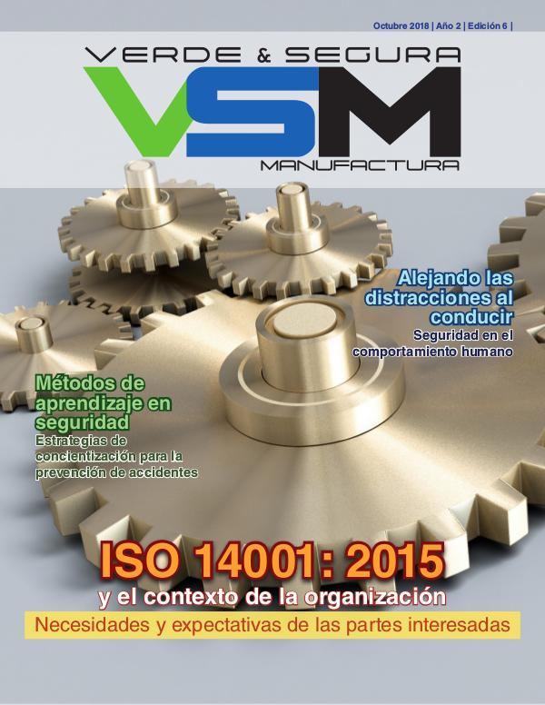 Edición 8. Septiembre 2019. Revista Verde & Segura Manufactura Edición 6. Octubre 2018