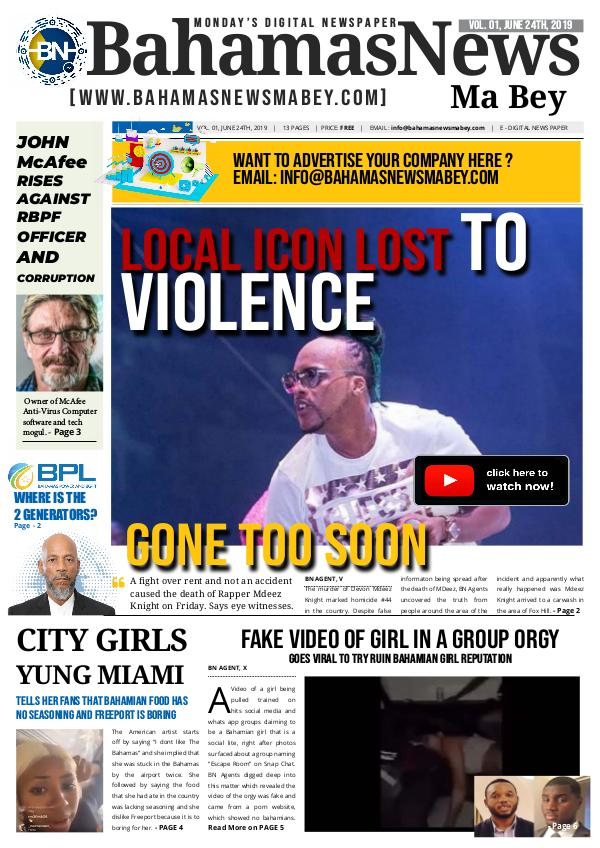 BN Volume 1 BN News Paper - June 24 2019 Final Copy
