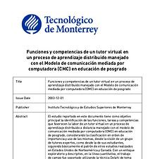 Funciones de la tutoria virtual. Psicologo Pastor Hernandez Madrigal