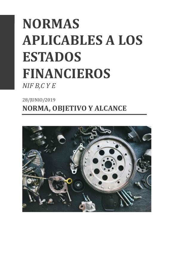 NORMAS APLICABLES  A LOS ESTADOS FINANCIEROS normas financieras def