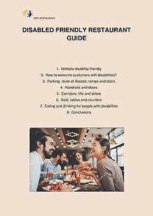 Disabled friendly restaurant guide