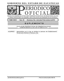Acuerdo Administrativo Gobierno del Estado de Zacatecas