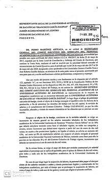 Emplazamiento a huelga del SPAUAZ