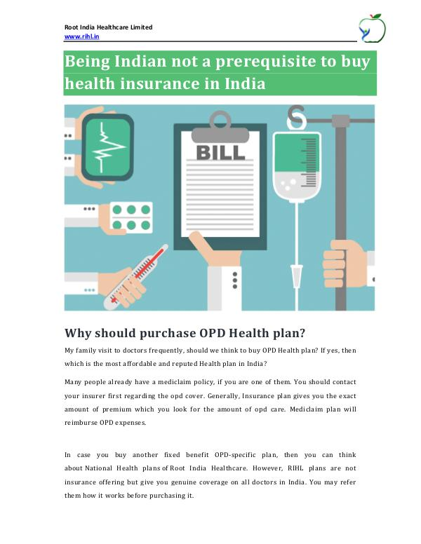 Top OPD Cards in India Being Indian not a prerequisite to buy health insu