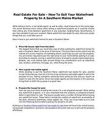 Lakefront Properties of Maine