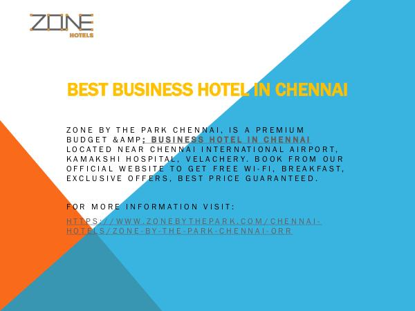 Zone By the Park Chennai Best Business Hotel in Chennai