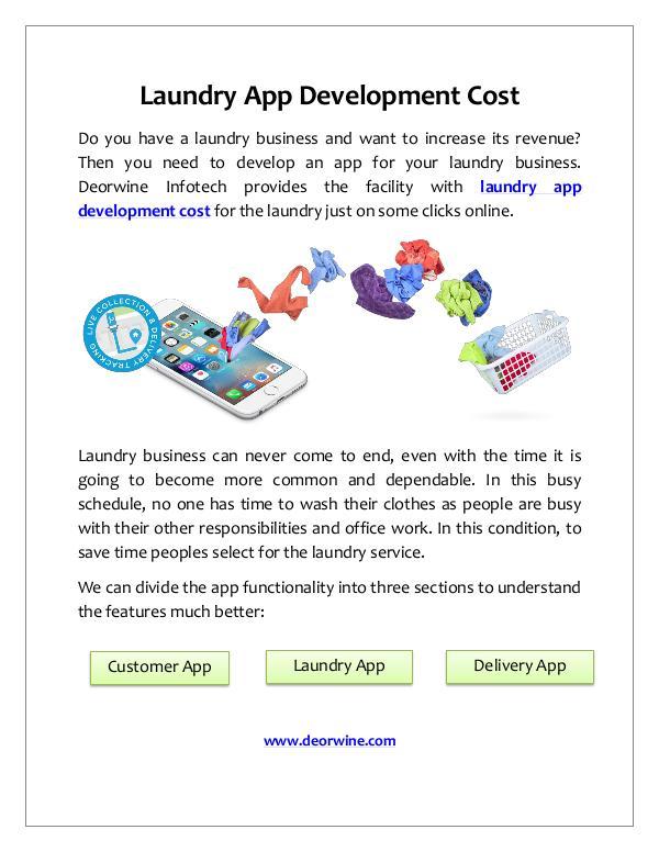 Laundry app development cost Laundry App Development Cost