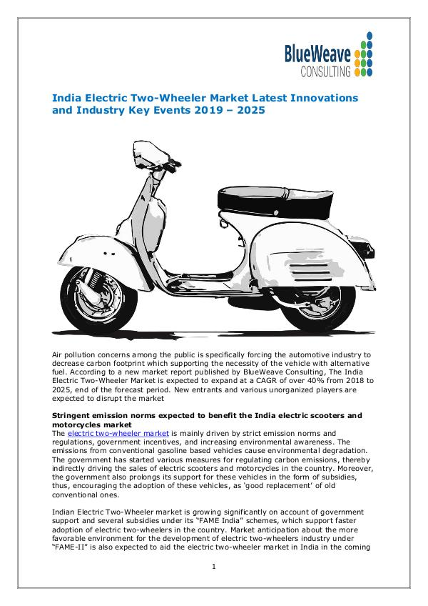 India Electric Two-Wheeler Market by Technology,Industry Updates 2025 India Electric Two wheeler