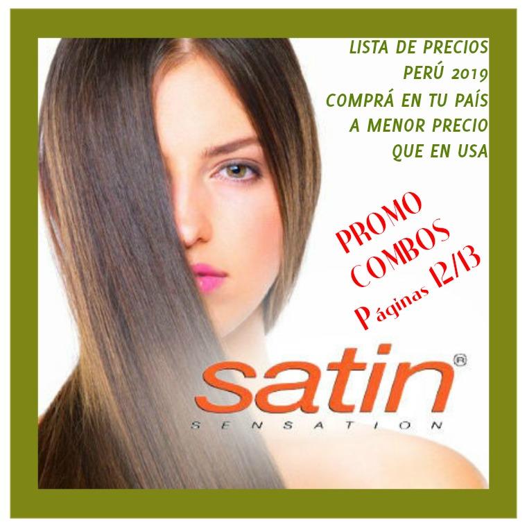 Satin Sensation Perú, catálogo de productos