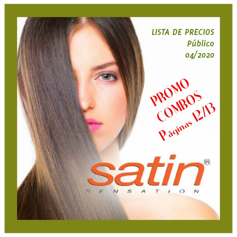 Catálogo Satin Sensation Precios Público, catálogo 02/20