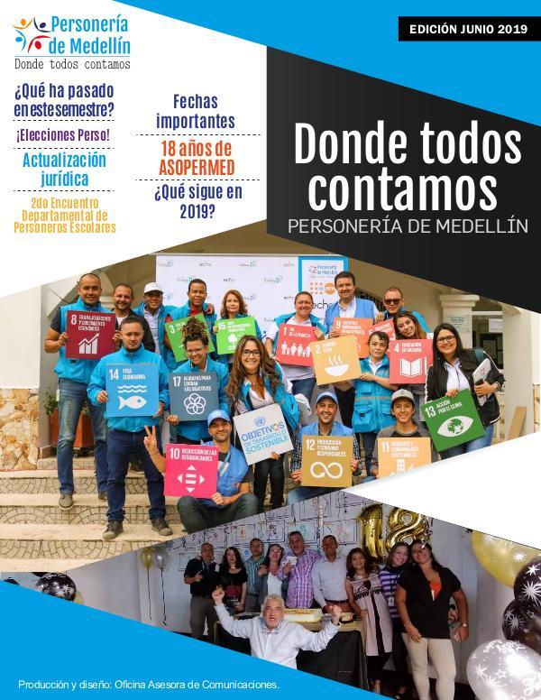 DONDE TODOS CONTAMOS 2019 DONDE TODOS CONTAMOS - EDICIÓN JUNIO