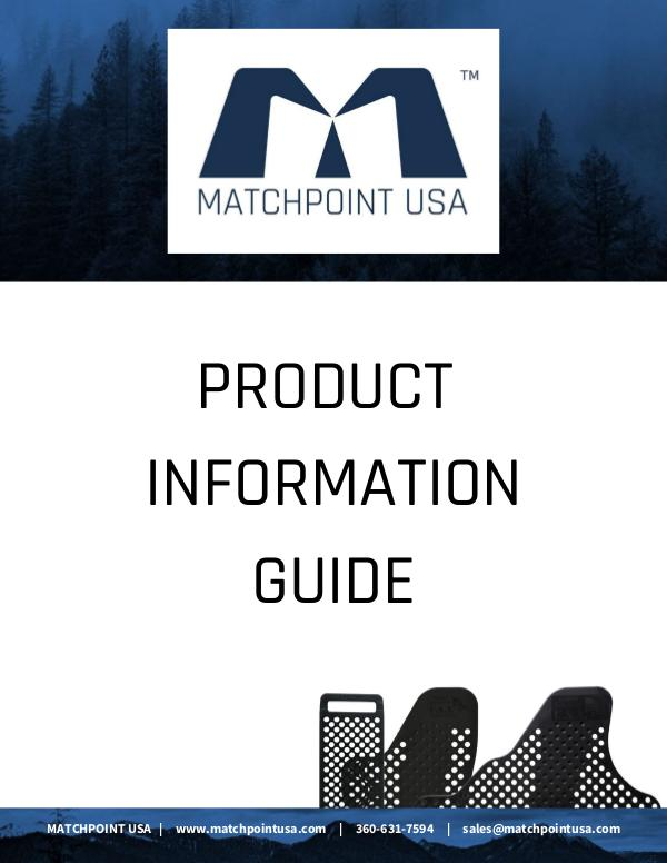 MatchPoint USA Product Information Guide MATCHPOINT PRODUCT INFORMATION GUIDE