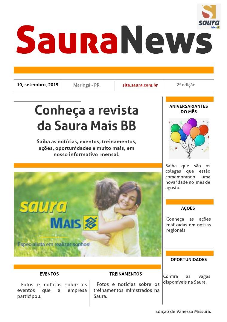 Saura News - 2019 SAURA NEWS - Agosto 2019