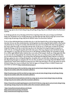 Đại lý cung cấp tủ sắt an toàn dùng trong văn phòng chống cháy hà nội