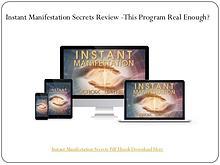 Instant Manifestation Secrets PDF Download Free