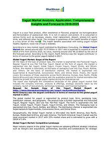 Yogurt Market Analysis, Application, Comprehensive Insights 2019