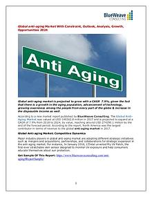 Global anti-aging Market With Constraint, Outlook, Analysis 2024