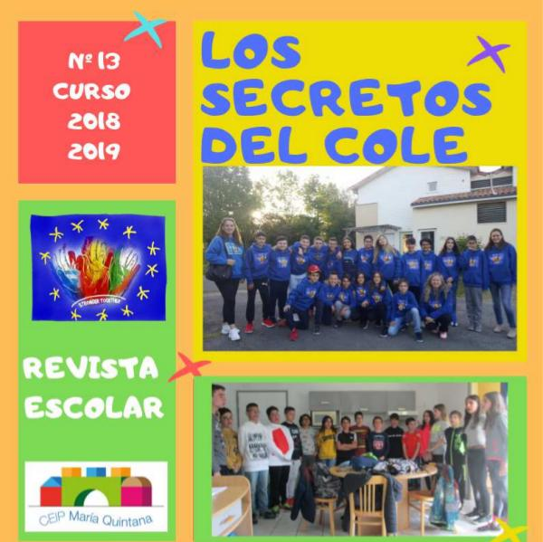 "REVISTA ESCOLAR ""Los Secretos del Cole 2018-2019l"" revista DEFINITIVA 2018-2019 para ISSU"