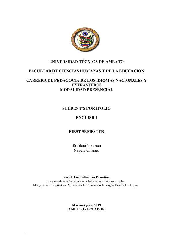 ENGLISH 1 06. Chango Mashu Nayely Leonela