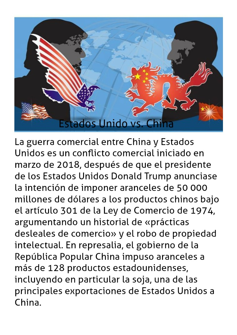 Guerra Comercial China vs. Estados Unidos