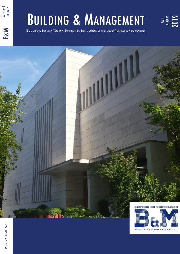 B&M_3_2_2019 ISSN-2530-8157 Building & Management Volumen 3 Issue 2