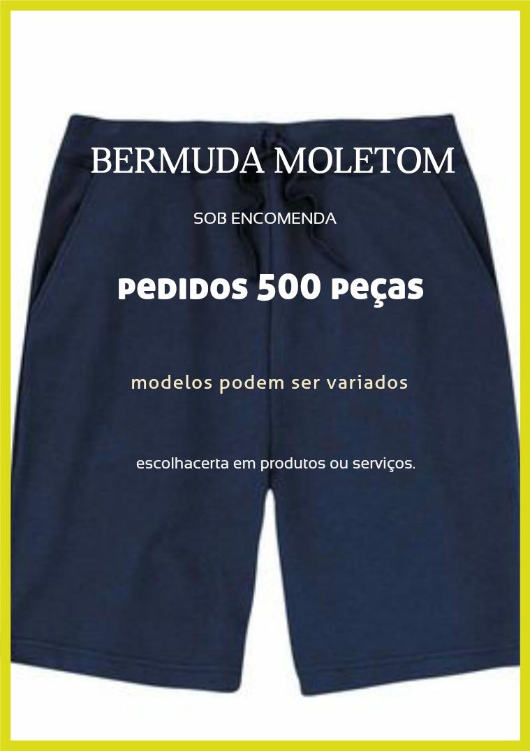 Bermuda de moletom Volume 1 Bermudas moletom