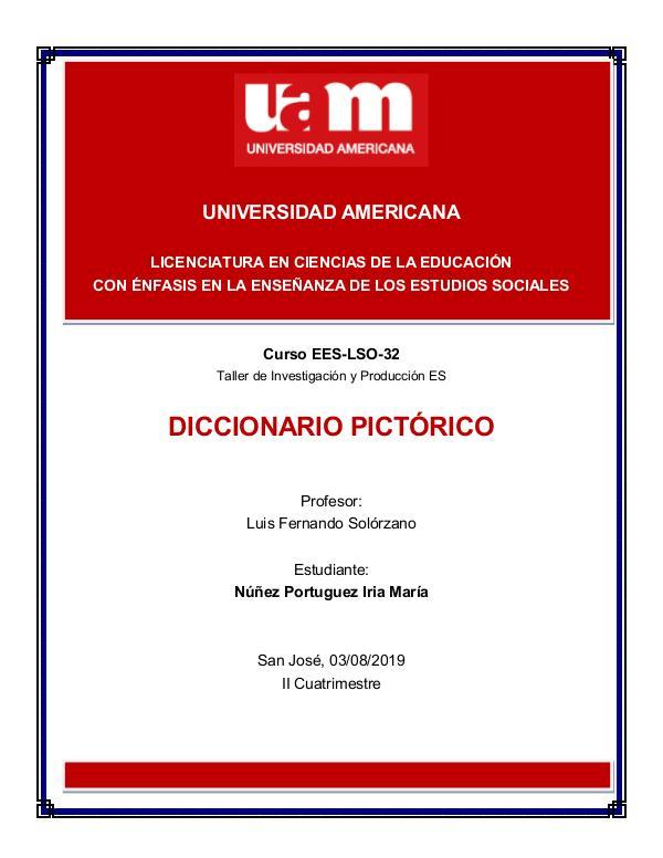 Diccionario Pictórico Taller de Investigación UAM DICCIONARIO PICTORICO